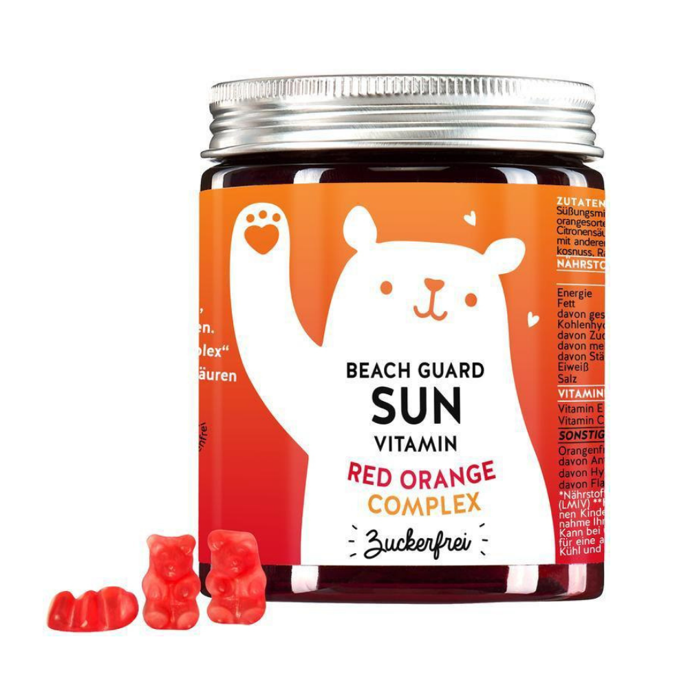 Bears with Benefits Beach Guard Sun Vitamins Veriapelsinikompleksiga 150g