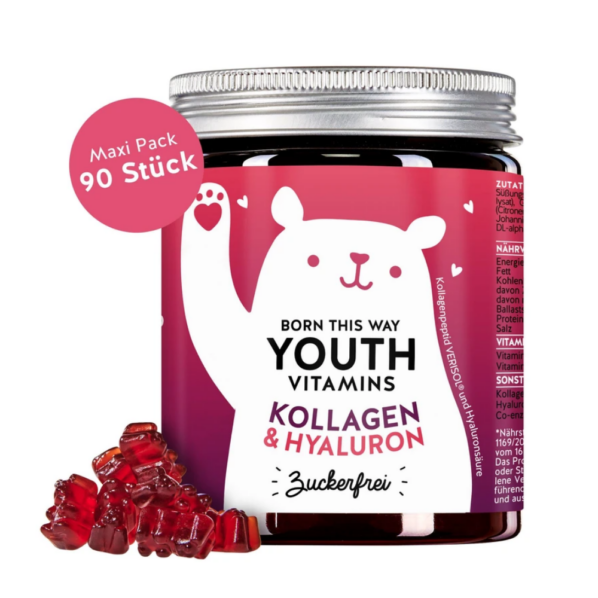 Bears wth Benefits Youth Vitamins Kollageeni ja hualuroonhappega kummikarud 90tk